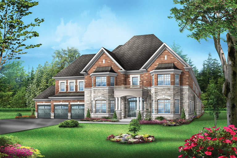 Flagstone 1 floor plan at Vales of the Humber by Greenpark in Brampton, Ontario