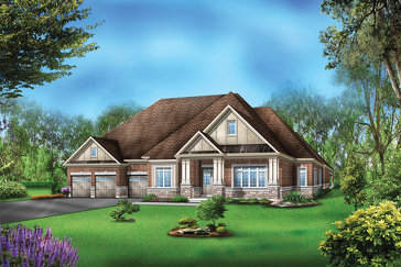 The Gilmore 1 new home model plan at the Vales of the Humber by Greenpark in Brampton