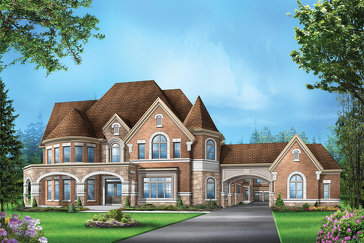 The Hazelton 3 new home model plan at the Vales of the Humber by Greenpark in Brampton