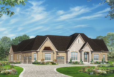 The Amalfi 1 new home model plan at the Kleinburg Heights by Greenpark in Kleinburg