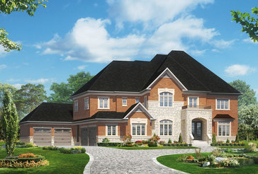 The Kingswood 1 new home model plan at the Kleinburg Heights by Greenpark in Kleinburg