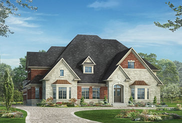 The Concord 8 new home model plan at the Kleinburg Heights by Greenpark in Kleinburg