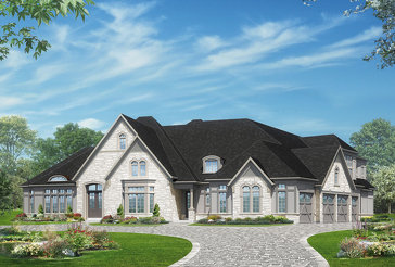 The Amalfi 7 new home model plan at the Kleinburg Heights by Greenpark in Kleinburg