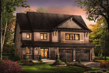 The Elation new home model plan at the Victory by Empire Communities in Stoney Creek
