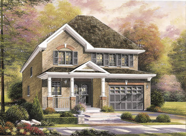 The Woodside new home model plan at the Summerlea by Empire Communities in Binbrook