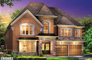 The Ardwick new home model plan at the Estates of West River Valley by Royal Pine Homes in Brampton