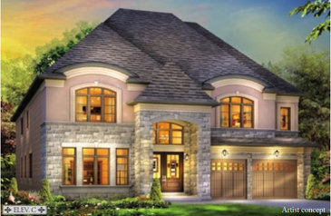 The Birmingham new home model plan at the Estates of West River Valley by Royal Pine Homes in Brampton