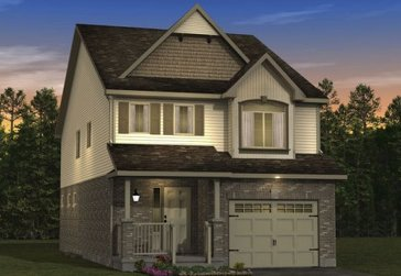 The Chestnut new home model plan at the Morning Crest by Granite Homes in Guelph