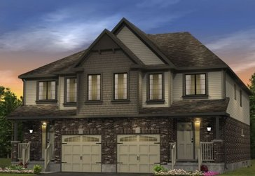 The Hawthorn new home model plan at the Morning Crest by Granite Homes in Guelph