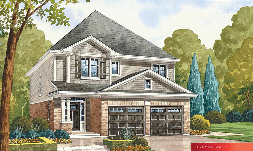 Glitz A floor plan at The Fairgrounds by Branthaven Homes in Binbrook, Ontario