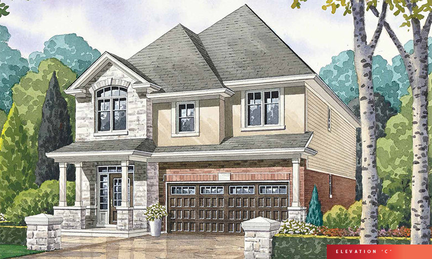 Vivid C floor plan at The Fairgrounds by Branthaven Homes in Binbrook, Ontario
