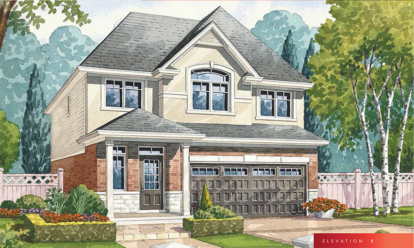 Crystal B floor plan at The Fairgrounds by Branthaven Homes in Binbrook, Ontario