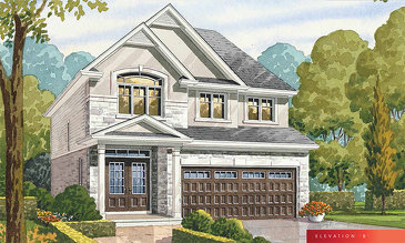 The Glitz B new home model plan at the The Fairgrounds by Branthaven Homes in Binbrook