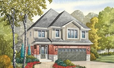 The Peregrine new home model plan at the Nestings by Branthaven Homes in Kitchener