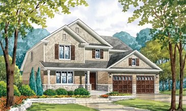 The Wild Iris new home model plan at the Nestings by Branthaven Homes in Kitchener