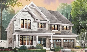 The Grand River new home model plan at the Nestings by Branthaven Homes in Kitchener