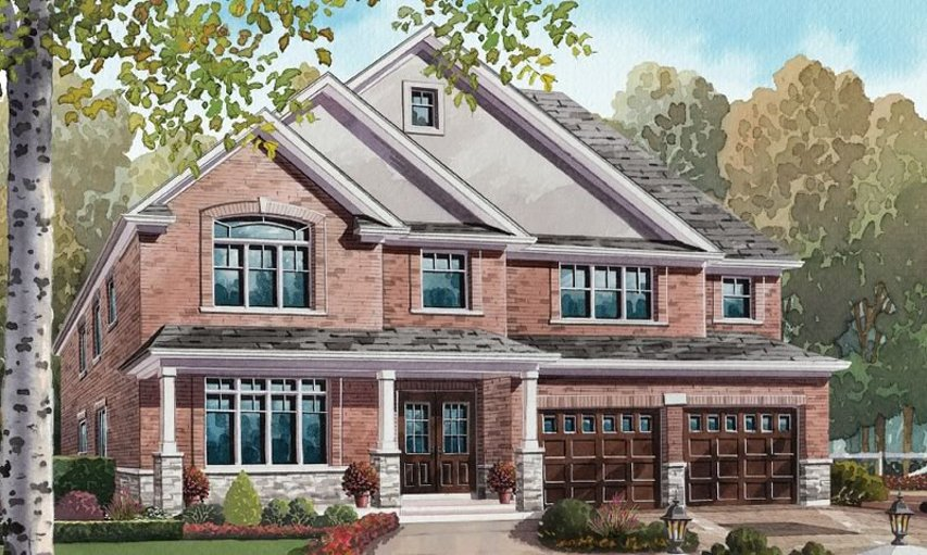Fieldstone floor plan at Nestings by Branthaven Homes in Kitchener, Ontario