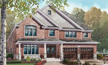 The Fieldstone new home model plan at the Nestings by Branthaven Homes in Kitchener