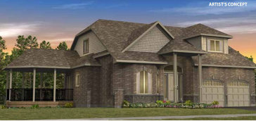 The Valencia E new home model plan at the Legacy Pines by Ashton Ridge Homes in Caledon
