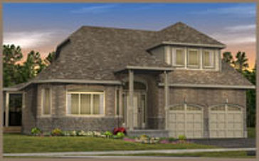 The Valencia B new home model plan at the Legacy Pines by Ashton Ridge Homes in Caledon