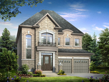 The Juniper new home model plan at the The Estates of Credit Ridge by Tiffany Park Homes in Brampton