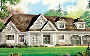 The Queen Mary new home model plan at the Captain's Cove by The Remington Group in Midland