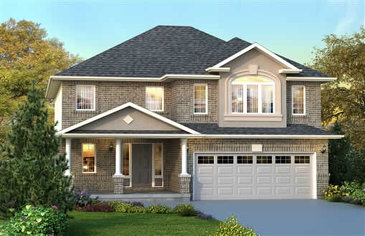 The Cambridge new home model plan at the Penny Lane Estates by Landmart in Stoney Creek