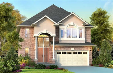 The Edinburgh new home model plan at the Penny Lane Estates by Landmart in Stoney Creek