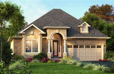 The Shelley new home model plan at the Penny Lane Estates by Landmart in Stoney Creek