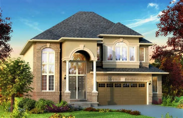 The Elton new home model plan at the Penny Lane Estates by Landmart in Stoney Creek