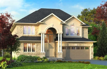 The Newton new home model plan at the Penny Lane Estates by Landmart in Stoney Creek
