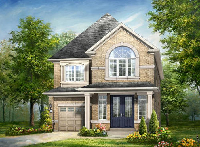 Newcastle floor plan at Mount Pleasant (RH) by Rosehaven Homes in Brampton, Ontario