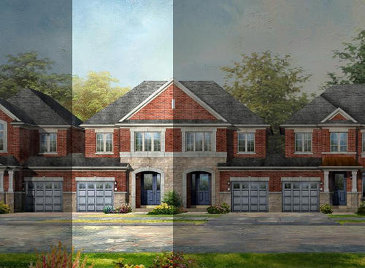 The Dixson new home model plan at the Lotus Pointe by Rosehaven Homes in Caledon