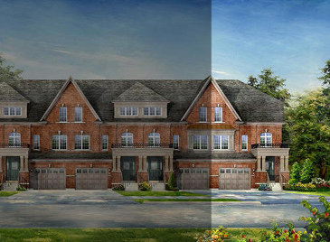 The Viceroy A3/B3 new home model plan at the Lotus Pointe by Rosehaven Homes in Caledon