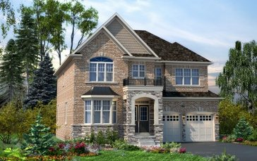 The Hallscroft new home model plan at the Mount Pleasant (TH) by Townwood Homes in Brampton