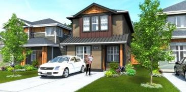 The Express new home model plan at the Kettle Creek Station by Turner Lane Development in Langford