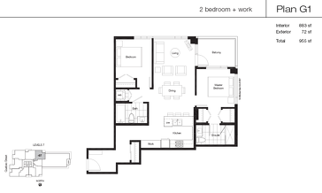 The G1 new home model plan at the Lido by Bosa Properties in Vancouver