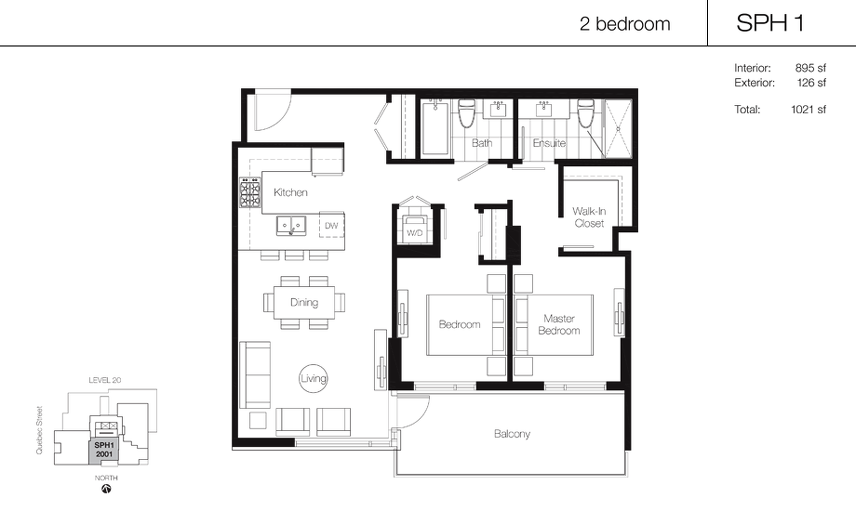 SPH1 floor plan at Lido by Bosa Properties in Vancouver, British Columbia