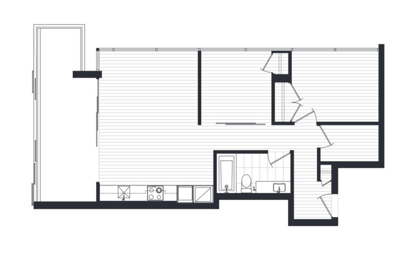 A1 floor plan at 999 Seymour by Townline Homes in Vancouver, British Columbia