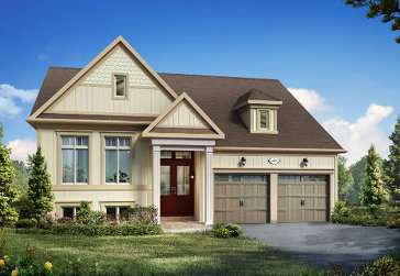 The Snowberry new home model plan at the Trillium Forest by Zancor Homes in Wasaga Beach