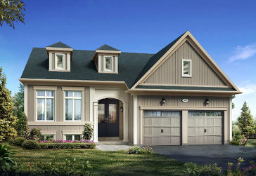 The Violet new home model plan at the Trillium Forest by Zancor Homes in Wasaga Beach