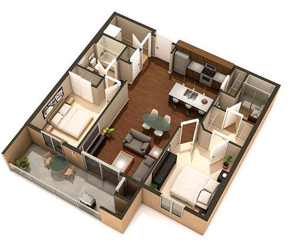 Oliver floor plan at Van Hull Place by Kothari Group in Winnipeg, Manitoba