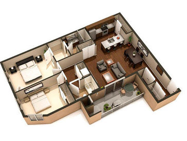 The Sienna new home model plan at the Van Hull Place by Kothari Group in Winnipeg
