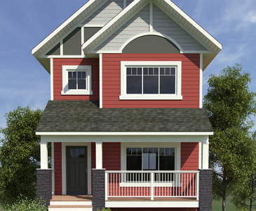 The Nisling new home model plan at the Summerhill by Evergreen Homes and Construction in Whitehorse