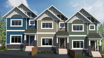 The Nisling Triplex new home model plan at the Summerhill by Evergreen Homes and Construction in Whitehorse
