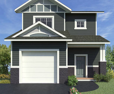 The Galena new home model plan at the Summerhill by Evergreen Homes and Construction in Whitehorse