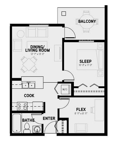 Cancun floor plan at Velocity by Porchlight Development in Regina, Saskatchewan