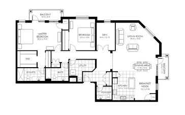 The Executive Suite new home model plan at the V2 Condos by VanMar Homes in Guelph