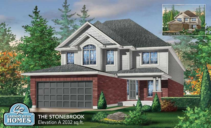 Stonebrook floor plan at Watson Creek by Carson Reid Homes in Guelph, Ontario