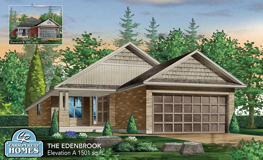 Edenbrook floor plan at Watson Creek by Carson Reid Homes in Guelph, Ontario